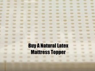 Buy A Natural Latex Mattress Topper. Full Stride Health