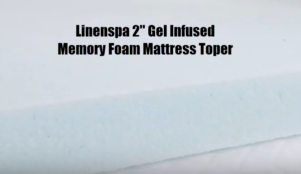 Linenspa Gel Infused Memory Foam Mattress Topper. Full Stride Health