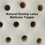 100% natural latex mattress topper