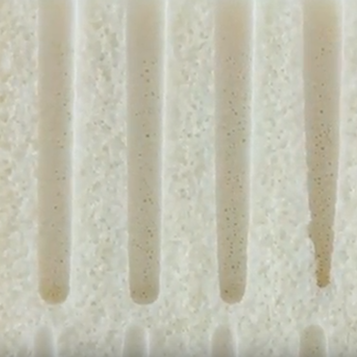 Talalay latex mattress topper close up view. Full Stride Health