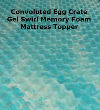 2 inch thick convoluted egg crate gel swirl memory foam mattress topper. Full Stride Health