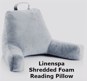 Linenspa shredded foam reading pillow. Full Stride Health