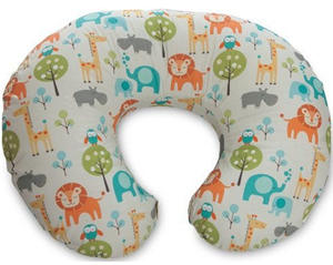 Nursing pillow with African animal theme.