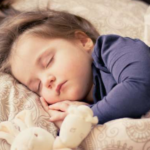 Young girl sleeping.