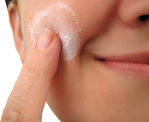 Epsom salt scrub for acne.