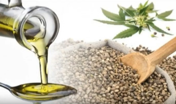 Hemp oil, hemp seeds, hemp leaves. Full Stride Health