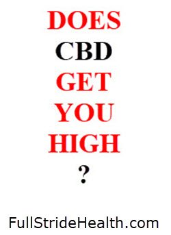 Does CBD get you high? FullStrideHealth.com