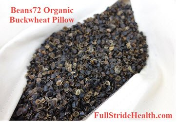 Beans72 Organic Buckwheat Pillow FullStrideHealth.com