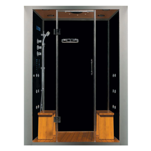 Steam Planet Galaxy Deluxe Plus 60 in. x 40 in. x 87 in. Steam Shower Enclosure Kit with 4.2kw Generator in Black