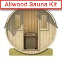 Allwood Barrel Sauna Kit. FullStrideHealth.com