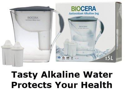 Biocera antioxidant alkaline water jug. FullstrideHealth.com