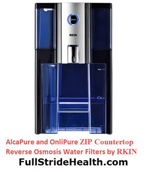 AlcaPure and OnliPure zip countertop reverse osmosis water filter. FullStrideHealth.com