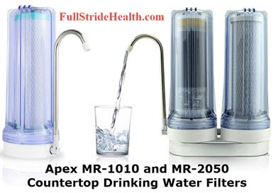 Apex countertop drinking water filter systems mr-1010 and mr-2050. FullStrideHealth.com