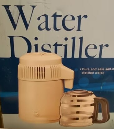 H2o Labs White Water Distiller with glass carafe. FullStrideHealth.com