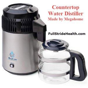 Megahome countertop water distiller. Fullstride Health.com
