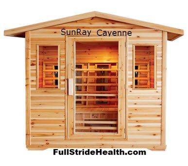 SunRay Cayenne outdoor infrared sauna. FullStrideHealth.com