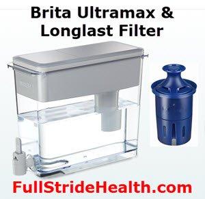 Brita Ultramax Water Dispenser and Brita Longlast Filter. FullStrideHealth.com