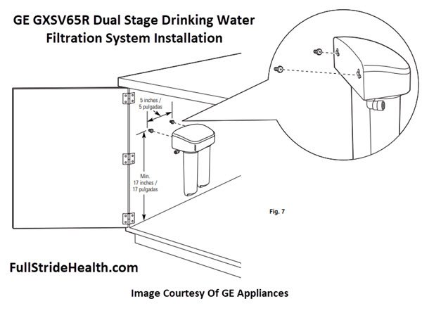 GE GXSV65R Dual Stage Drinking Water Filtration System Installation Filter Mounting