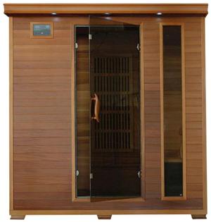 Radiant Saunas BSA1318 4-Person Cedar Infrared Sauna.