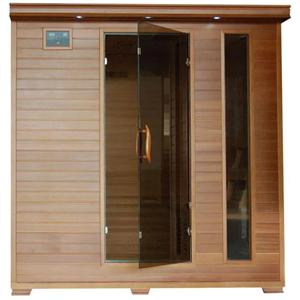 Radiant Saunas bSA1323 6-Person Cedar Infrared Sauna with 10 Carbon Heaters