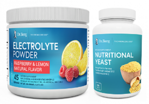 Dr. Berg electrolytes and nutritional yeast keto combo